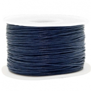 Kordel aus Wachs 1mm Dark blue