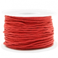 Kordel aus Wachs 1.5mm Warm red