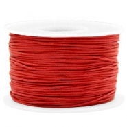Kordel aus Wachs 1mm Warm red