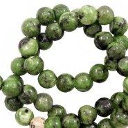 8 mm Perlen Naturstein Forest green