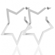 Musthave Ohrringe Star Silber (Nickelfrei)