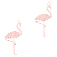 Anhänger Bohemian Flamingo Light pink (Nickelfrei)