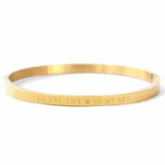 "Stainless Steel - Rostfreiem Stahl Armbänder ""YOU ARE MY STAR IN THE SKY"" Gold"
