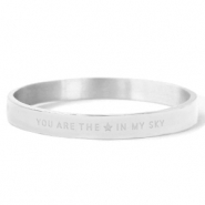 "Stainless Steel - Rostfreiem Stahl Armbänder ""YOU ARE MY STAR IN THE SKY"" Silver"