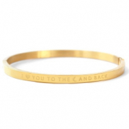"Stainless Steel - Rostfreiem Stahl Armbänder ""I LOVE YOU TO THE MOON AND BACK"" Gold"