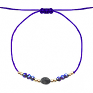 Armband Stone&Facett Blue-gold