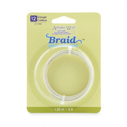 12 Gauge Artistic Wire Braid Round Tarnish Resistant Silver