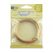 12 Gauge Artistic Wire Tarnish Resistant Brass
