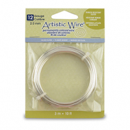 12 Gauge Artistic Wire Tarnish Resistant Silver