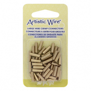 Artistic Wire Crimp Tubes 10mm 12 Gauge Brass Colour