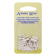 Artistic Wire Crimp Tubes 10mm 14 Gauge Tarnish Resistant Silver