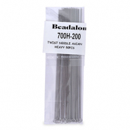 Twisted Needle Asian Heavy 50pcs Beadalon Silber