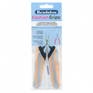 Fashion Grips Tool Covers Tiger Beadalon Orange-grau