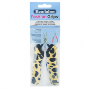 Fashion Grips Tool Covers Cheetah Beadalon Gelb-schwarz