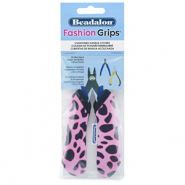 Fashion Grips Tool Covers Cheetah Beadalon Rosa-schwarz
