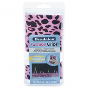 Fashion Tool Pouch Cheetah Beadalon Rosa-schwarz
