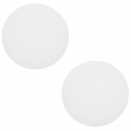 12 mm classic Polaris Elements Cabochon matt Daisy white