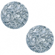 12 mm flach Polaris Elements Cabochon Goldstein Powder blue