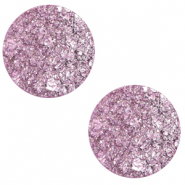 12 mm flach Polaris Elements Cabochon Goldstein Iris orchid purple