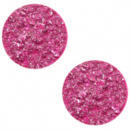 12 mm flach Polaris Elements Cabochon Goldstein Magenta purple