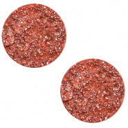 12 mm flach Polaris Elements Cabochon Goldstein Tigerlily coral pink