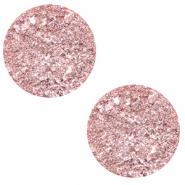 12 mm flach Polaris Elements Cabochon Goldstein Cloud coral pink