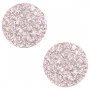 12 mm flach Polaris Elements Cabochon Goldstein Delicacy pink