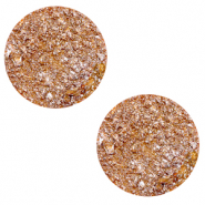 12 mm flach Polaris Elements Cabochon Goldstein Caramel yellow