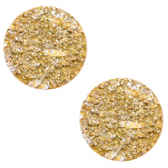 12 mm flach Polaris Elements Cabochon Goldstein Mineral yellow