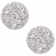 12 mm flach Polaris Elements Cabochon Goldstein Daisy white