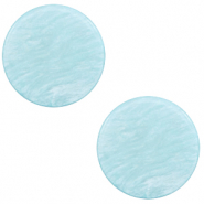 12 mm flach Polaris Elements Cabochon Lively Sky blue
