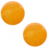 12 mm flach Polaris Elements Cabochon Lively Caramel yellow