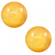 12 mm classic Polaris Elements Cabochon Mosso shiny Mineral yellow