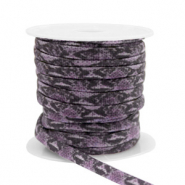 Gestepptes Band elastisch Snake Dark purple