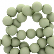 6 mm Perlen aus Acryl matt Misty grey-green