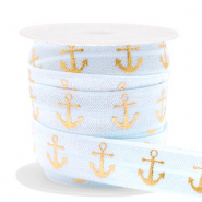 Band Elastisch Anker Light blue-gold