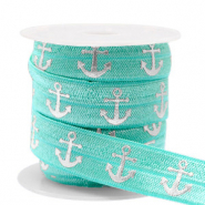 Band Elastisch Anker Turquoise-silver