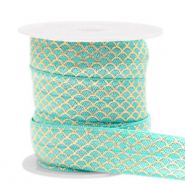 Band Elastisch Mermaid Turquoise-gold