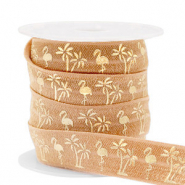 Band Elastisch Flamingo/Palmtree Camel brown-gold