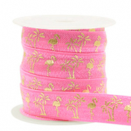 Band Elastisch Flamingo/Palmtree Pink-gold