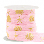 Band Elastisch Shell/Sea Star Vintage pink-gold