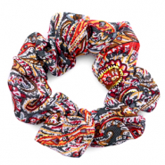Haargummi Paisley Print Multicolour red
