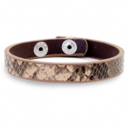 Armband Snake Beige brown
