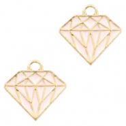 Anhänger Metall Basic quality Diamant Gold-rosa