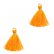 Quaste Perlen 1.5cm Gold-persimmon orange