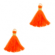 Quaste Perlen 1.5cm Gold-neon orange