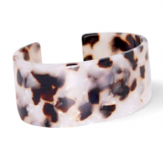 Armband Resin Off white-brown
