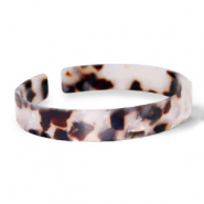Armband Resin loose fit Off white-brown