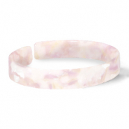 Armband Resin loose fit White-pink