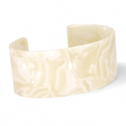 Armband Resin Cream beige